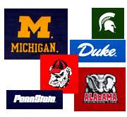 college logo covers university sports team logo college futon covers   futon creations  rh   futoncreations