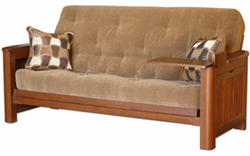 frame cruz with arm shop santa the tray wood oak futon