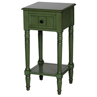 Simple Simplicity End Table - One Drawer, Cottage Green