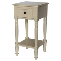Simple Simplicity End Table - One Drawer, Cottage Buttermilk