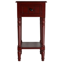 Simple Simplicity End Table - One Drawer, Cottage Red