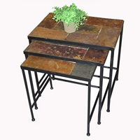 3 Piece Nesting Tables w/ Slate Tops