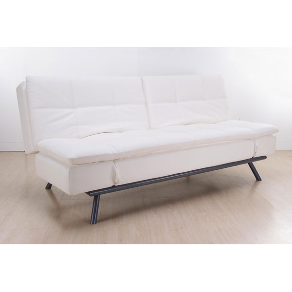 Quantum Modern Leather Convertible Sofa