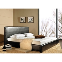 Livingston Queen Espresso Leather Bed