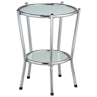 Cosmopolitan Round Glass End Table