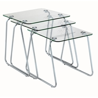 Slice Tempered Glass Nesting Table