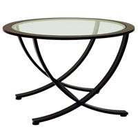 Wellington Nesting End Table - Oil Rubbed Bronze, Glass Inlay