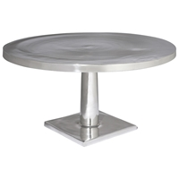 Surina Contemporary Cocktail Table - Cast Aluminum, Round Top