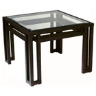 Paulette Metal End Table - Cast Brass, Square Glass Top