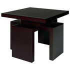 Sebring Wood End Table - Mocha on Oak, Square Top
