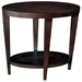 Marla End Table - Espresso on Birch, Lower Shelf, Tapered Legs - ACD-30506-02