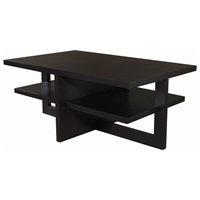 Samantha Rectangular Cocktail Table - Espresso on Birch