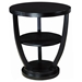 Concept Wood End Table - Black on Oak, Round Top - ACD-3309-02