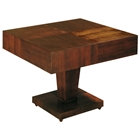 Sarasota Two Tone End Table - Walnut, Square Top, Pedestal Base