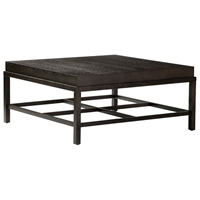 Spats Wood Cocktail Table - Espresso on Ash, Square Top