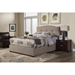 Amanda Jute Platform Bed - Tufted, Upholstered - ALP-1084-BED