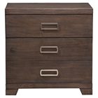 Savannah 3-Drawer Nightstand - Pecan