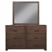Savannah 6 Drawers Dresser - Pecan - ALP-1100-03