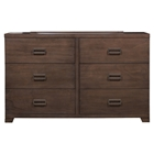 Savannah 6 Drawers Dresser - Pecan