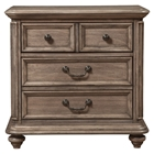 Melbourne 3-Drawer Nightstand - French Truffle