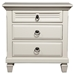 Winchester 3-Drawer Nightstand - White - ALP-1306-W-NS