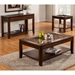 Granada End Table - Glass Insert and Shelf, Brown Merlot - ALP-1437-22