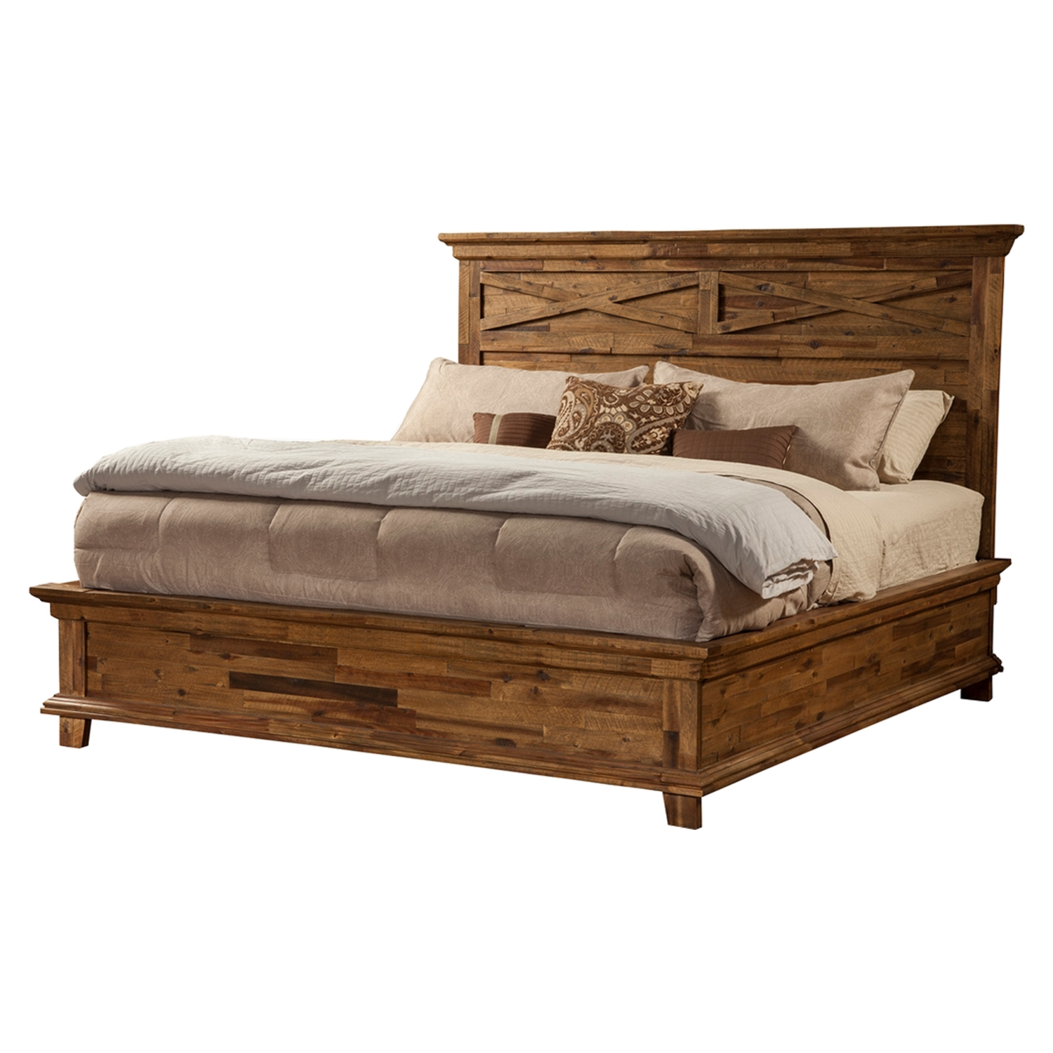 St James Platform Bed - Salvaged Brown - ALP-1478-BED