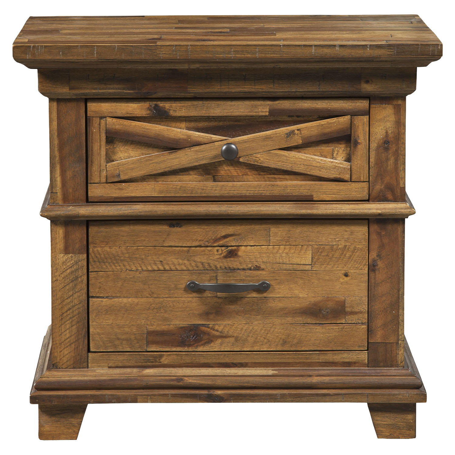 St James 2-Drawer Nightstand - Salvaged Brown