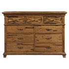 St James Dresser - Salvaged Brown, 9 Drawers