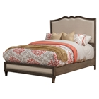 Charleston Bed - Antique Gray, Upholstered Headboard and Footboard