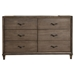 Charleston 6 Drawers Dresser - Antique Gray - ALP-1500-03