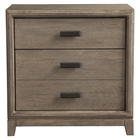 Camilla 3-Drawer Nightstand - Antique Gray