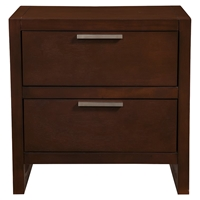 Urban 2-Drawer Nightstand -Merlot
