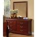 Louis Philippe II 6 Drawer Dresser in Cherry Finish - ALP-2701