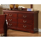 Louis Philippe II 6 Drawer Dresser in Cherry Finish