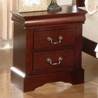 Louis Philippe II Nightstand in Cherry Finish