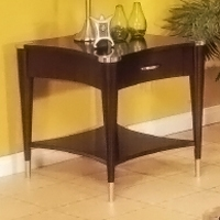 Sausalito End Table in Espresso