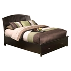 Del Mar California King Platform Bed - Dark Espresso, Storage