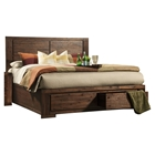 Pierre Storage Panel Bed - Antique Cappuccino