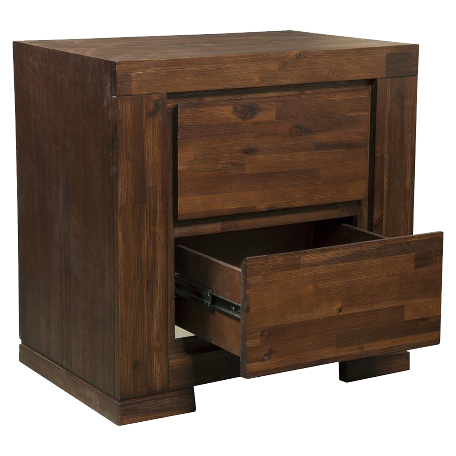 Pierre 2-Drawer Nightstand - Antique Cappuccino - ALP-8104-22
