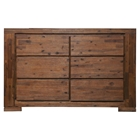 Pierre 6 Drawers Dresser - Antique Cappuccino