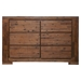Pierre 6 Drawers Dresser - Antique Cappuccino - ALP-8104-23