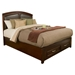 Atherton Bed - Merlot, Faux Leather Headboard, Storage Footboard - ALP-818-BED