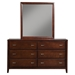 Carrington 6 Drawers Dresser - Merlot - ALP-CA-03