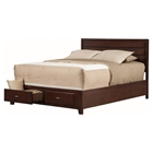 Carrington Storage Bed - Merlot