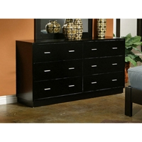 Manhattan Six Drawer Dresser in Dark Espresso