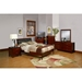 Newport California King Platform Bed - Medium Cherry - ALP-NC-07CK