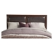Costa Mesa Bed - Medium Cherry, Platform, Faux Leather Headboard - ALP-NCC-BED