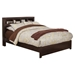 Solana Platform Bed - Bookcase Headboard, Cappuccino - ALP-NSK-BED