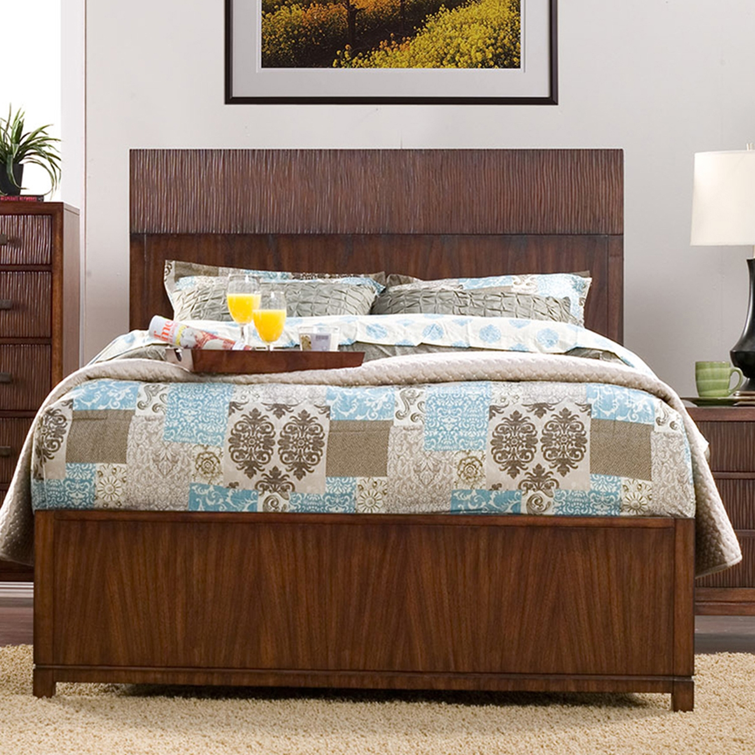 Loft Panel Bed - Dark Walnut